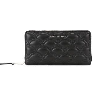 NWT! Matelasse Standard Continental Leather Wallet